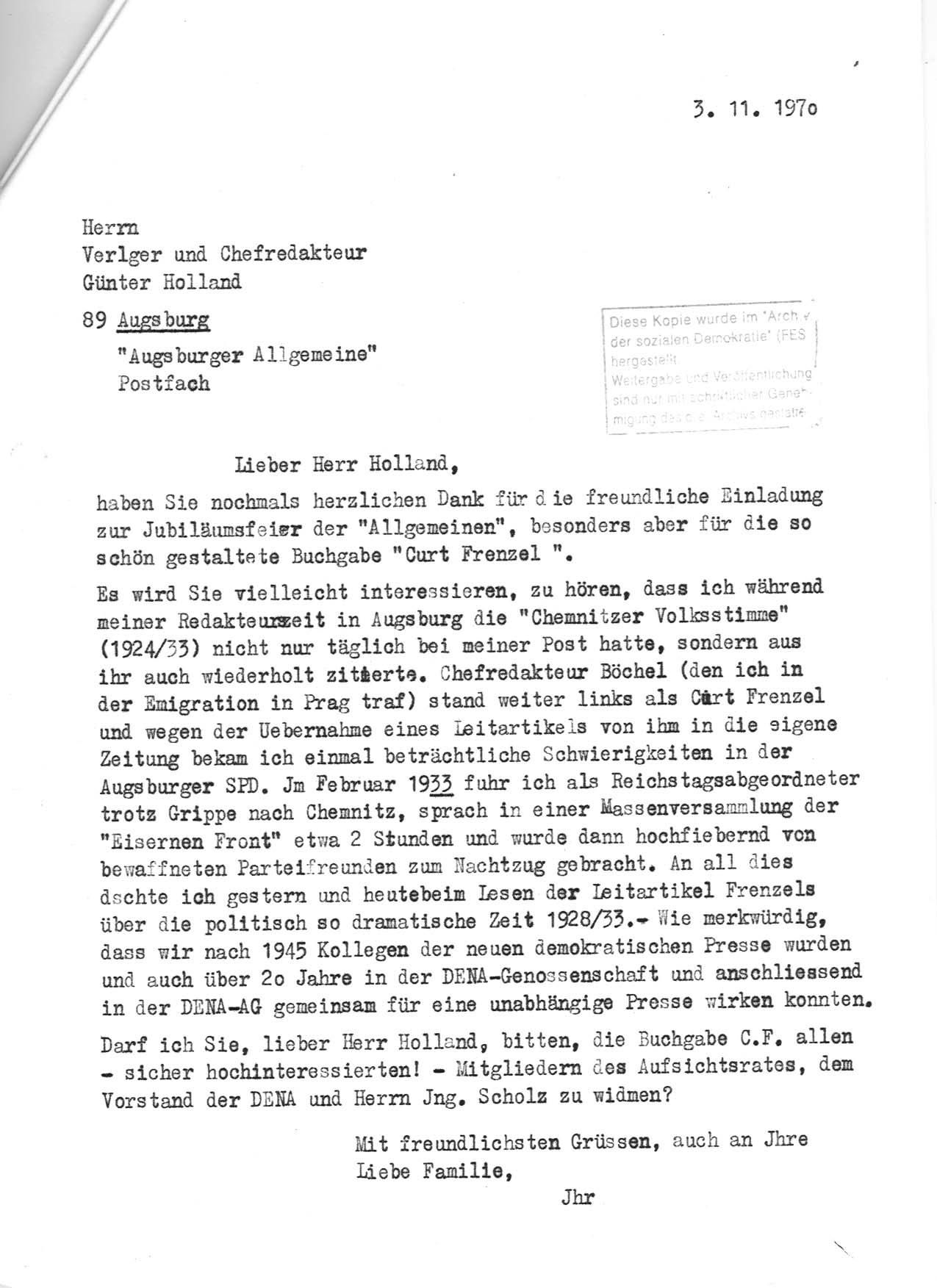 prjekt: jf - korrespondenzen, Einladungen