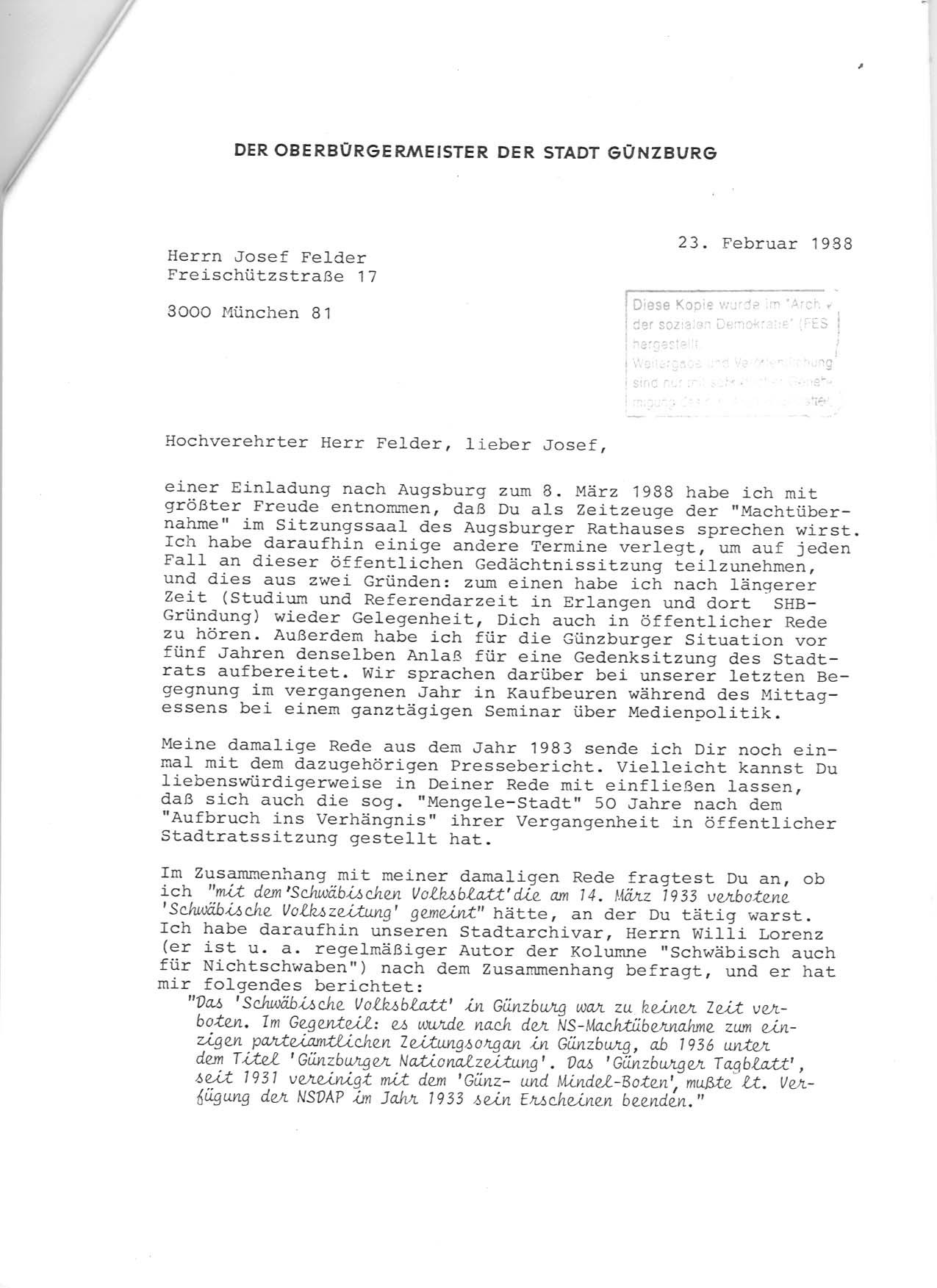 prjekt: jf - korrespondenzen, Einladung